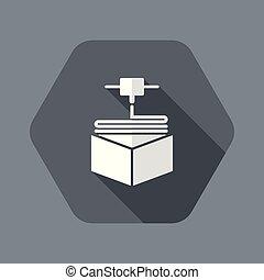 3D printer icon concept