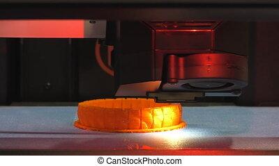 3D printer making red detail