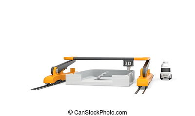 3D printer printing house - Industrial 3D printer printing...