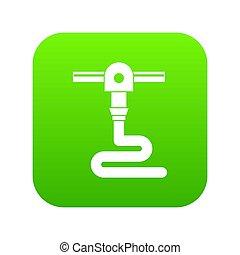 3d printer printing icon digital green