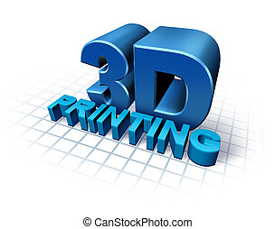 3D Printing - 3D printing concept with three dimensional...