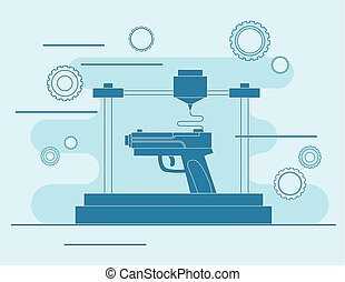 3D printing Icon, 3D modeling weapons
