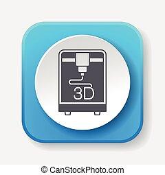 3D printing icon