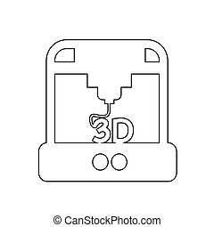 3D printing icon illustration design