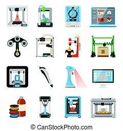 3D Printing Icons Set