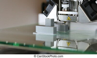 3D Printing Plastic Toy Block Prototype