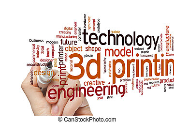 3D printing word cloud - 3D printing concept word cloud ...