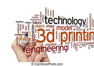 3D printing word cloud - 3D printing concept word cloud...