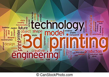 3d printing word cloud with abstract background