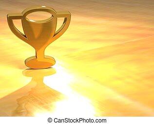 3D Prize Gold Sign