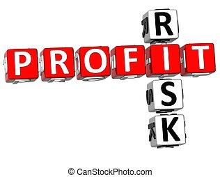 3D Profit Risk Crossword