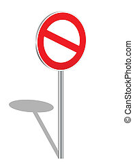 3D prohibition sign
