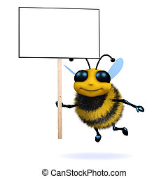 3d Protester bee