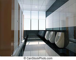 3d public bathroom
