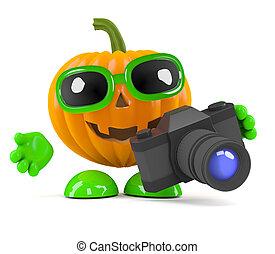 3d Pumpkin man has a new camera