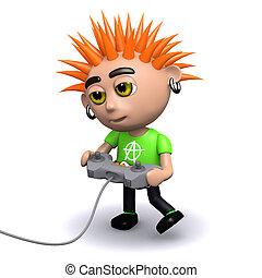 3d Punk gamer