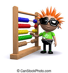 3d Punk using an abacus