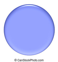 3d purple gel circular button isolated in white