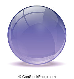 3D purple icon ball