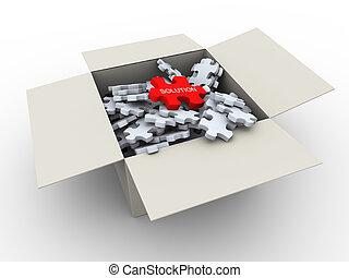 3d puzzle peaces box