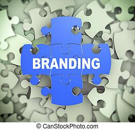 3d puzzle pieces - branding