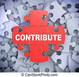 3d puzzle pieces - contribute