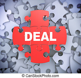 3d puzzle pieces - deal