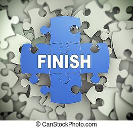 3d puzzle pieces - finish