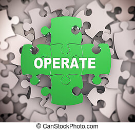 3d puzzle pieces - operate