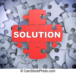 3d puzzle pieces - solution