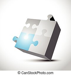 3d puzzle shape