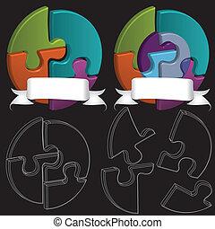 3D puzzle symbols
