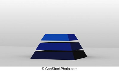 3D Pyramid shape with six layers - 3D Pyramid shape with...