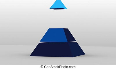 3D Pyramid shape with three layers - 3D Pyramid shape with...