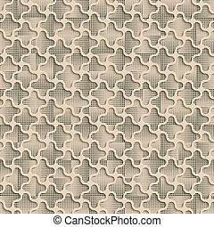 3d Quadrilateral Beige  Abstract Seamless Background Pattern