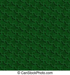 3d Quadrilateral Green Abstract Seamless Background Pattern
