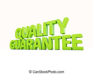 3d Quality guarantee - Quality guarantee icon on a white...