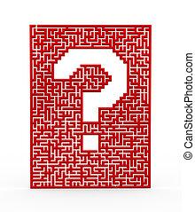 3d question mark maze