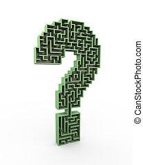 3d question mark puzzle maze