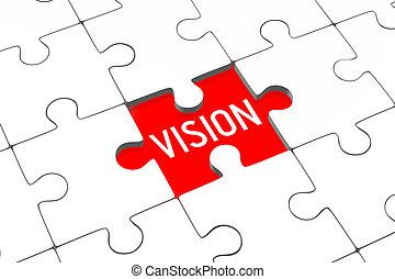 3d, rätsel, -, vision