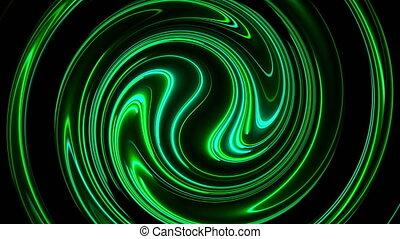 3d, résumé, fusion, torsade, néon, circulaire, couleur, ...