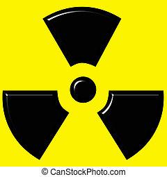 3d, radioattivo, segno