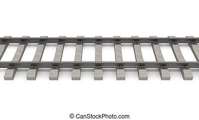 3d rails horizontal isolated on white background