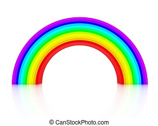 3d rainbow isolated on white