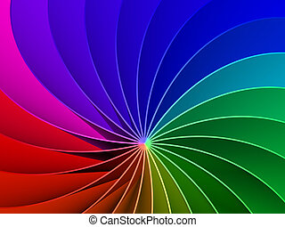 3d Rainbow Spectrum Background