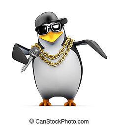 3d Rapper penguin tells it like it is