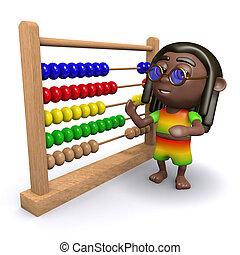 3d Rastafarian finds an abacus