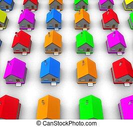 3d real estate concept