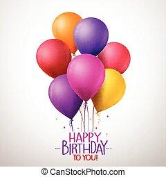 Happy Birthday Balloons Flying