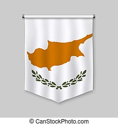 pennant with flag